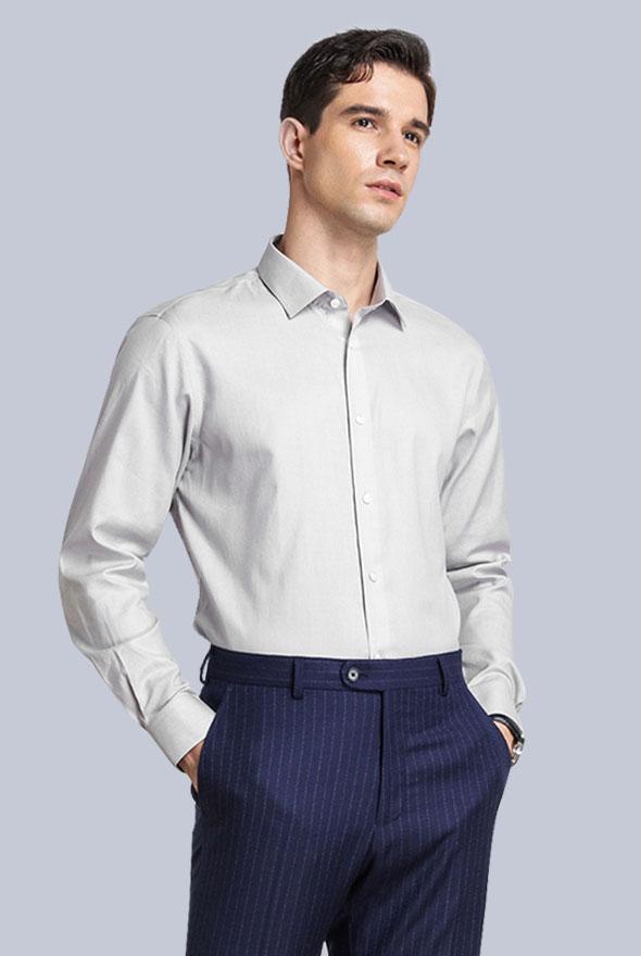男士灰色衬衫定制款