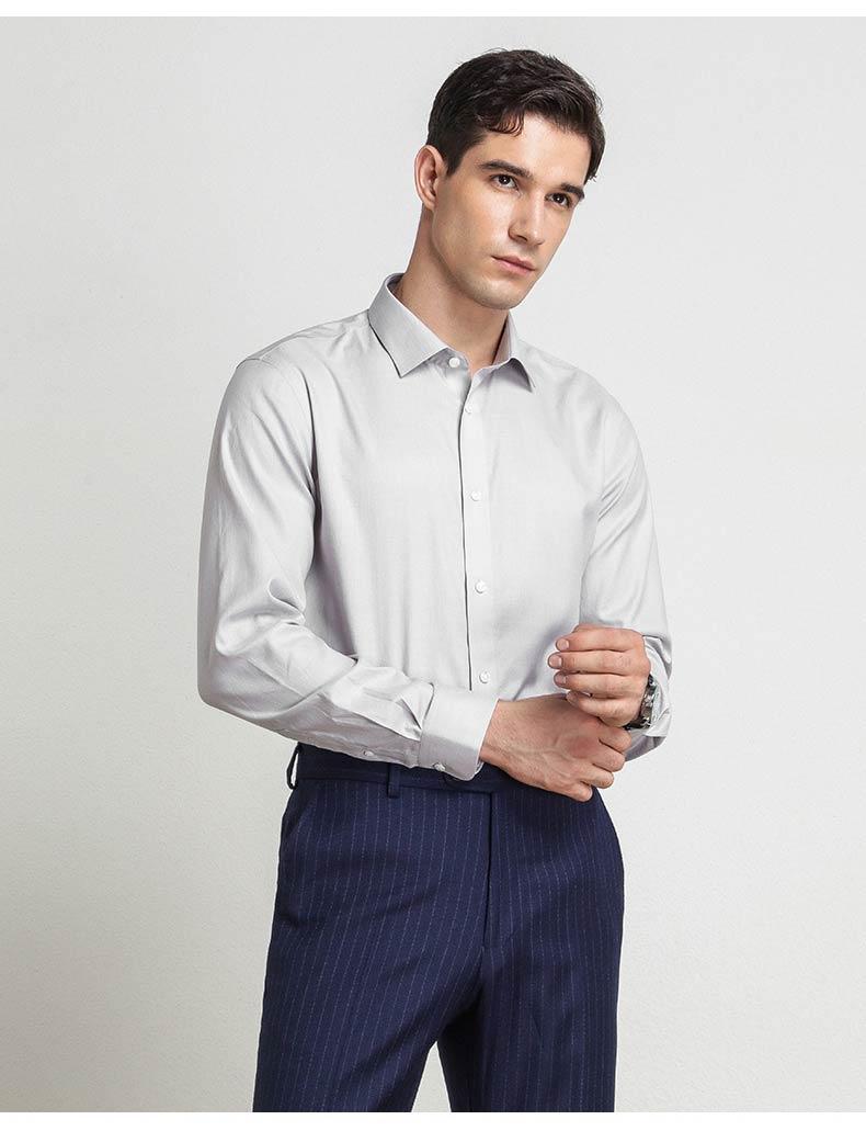 男款灰色衬衫定制图