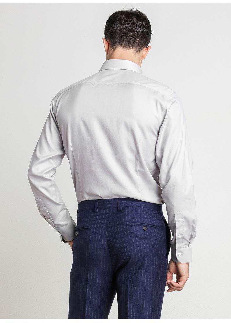 男士定制灰色衬衫款式图