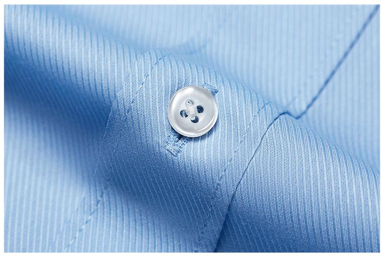 男士撞色领衬衫纽扣细节图