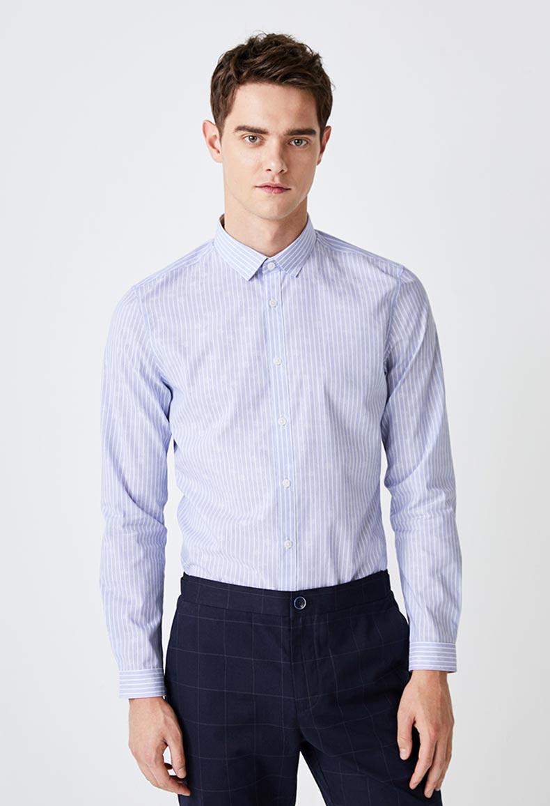 男士定制条纹衬衫款式图