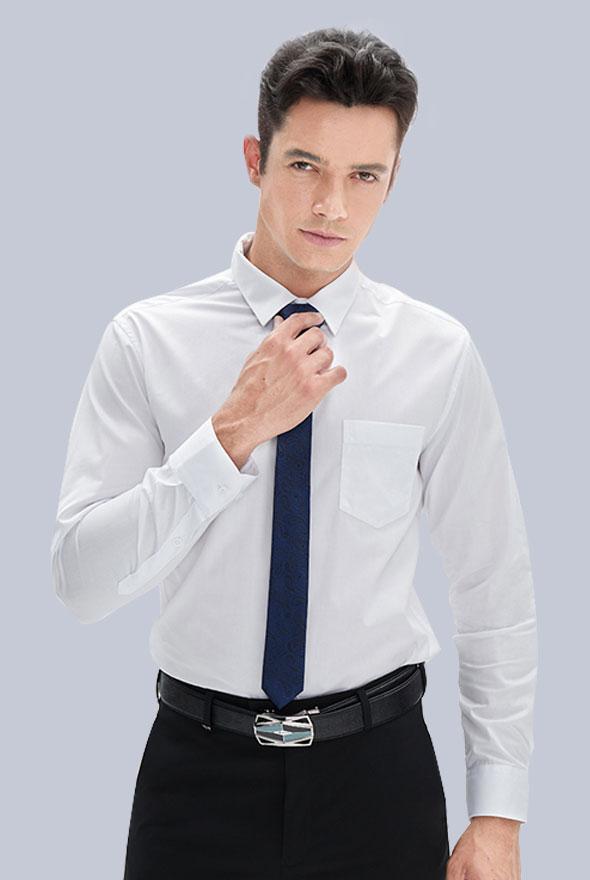 男装白色衬衫定制款