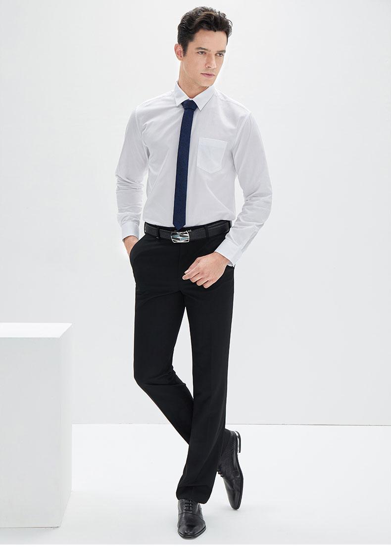 男士定做白色衬衫款式图