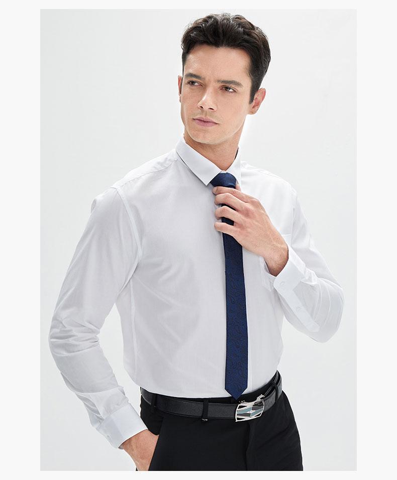 男装白色衬衫定制款式图