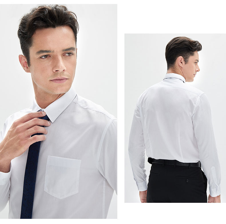 男装白色衬衫定做款式图