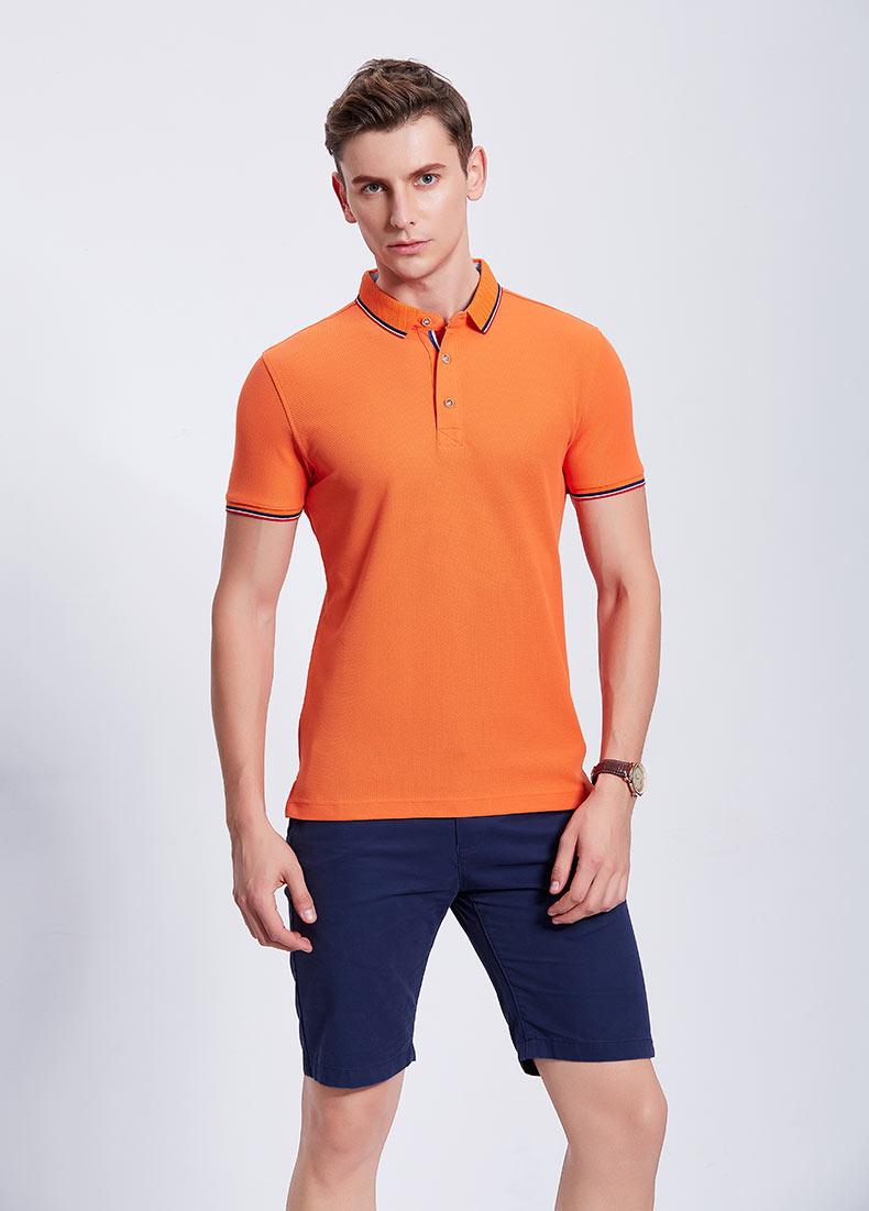 橙色POLO衫款式图