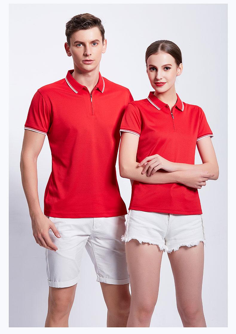 红色POLO衫工作服展示图