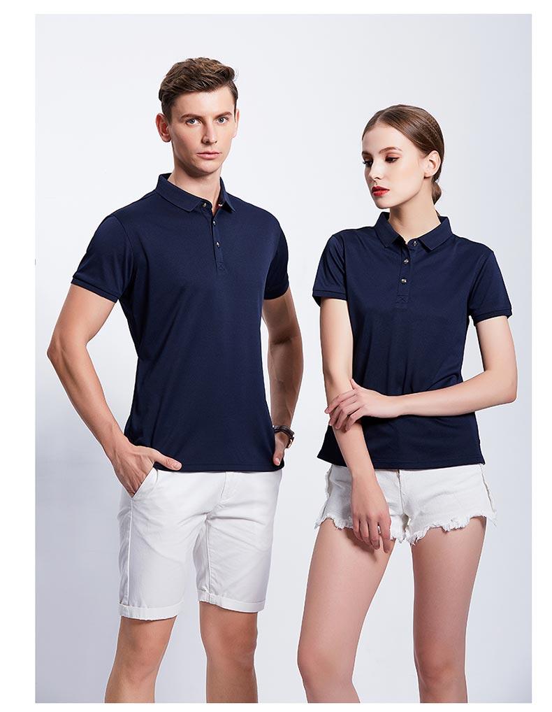 藏蓝色休闲款POLO衫T恤展示图二