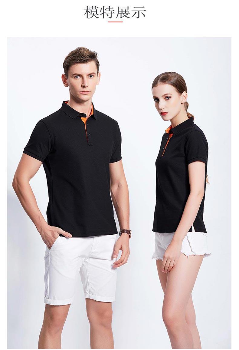 夏季短袖POLO衫模特展示图