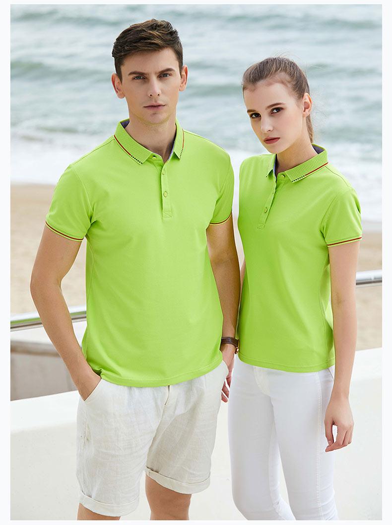果绿色纯棉POLO衫展示图