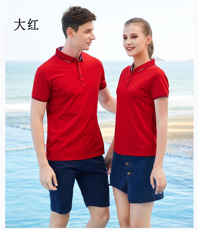 大红色POLO衫展示图