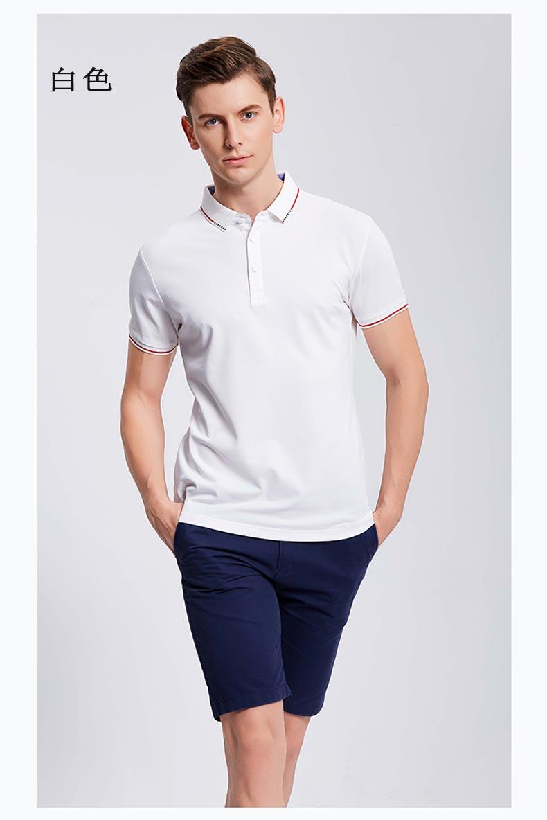 夏季白色POLO衫定制款式图