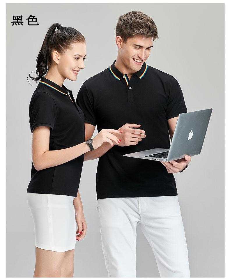 黑色商务POLO衫模特展示图