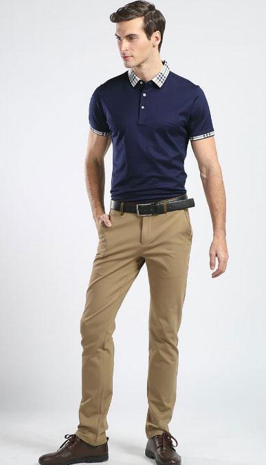 POLO衫搭配长裤