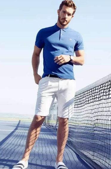 polo衫搭配短裤