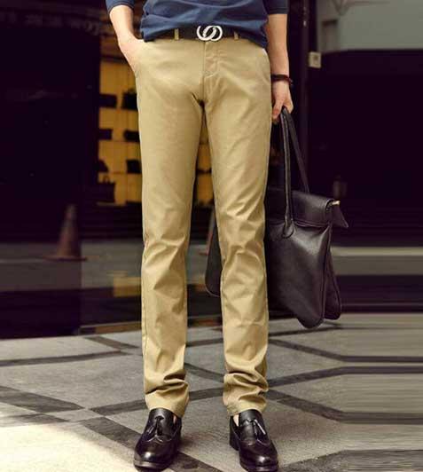 男士休闲裤款式图