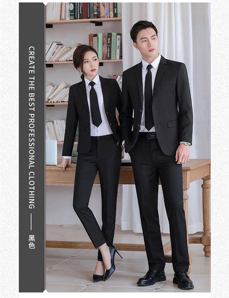 男女同款黑色西装定做图