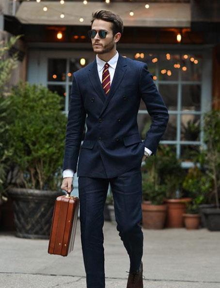 男士西装穿着