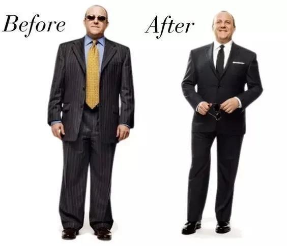 微胖男士定制西装效果图