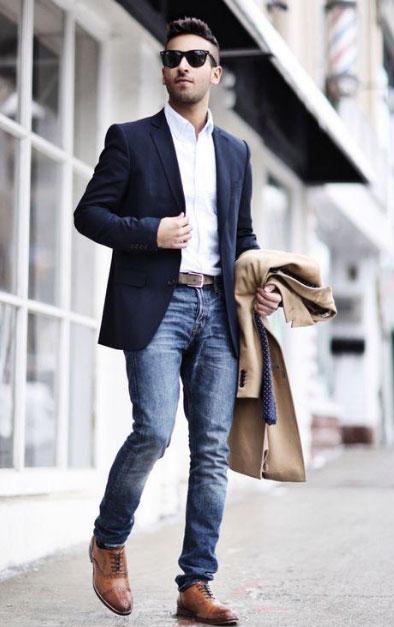西装能配牛仔裤吗