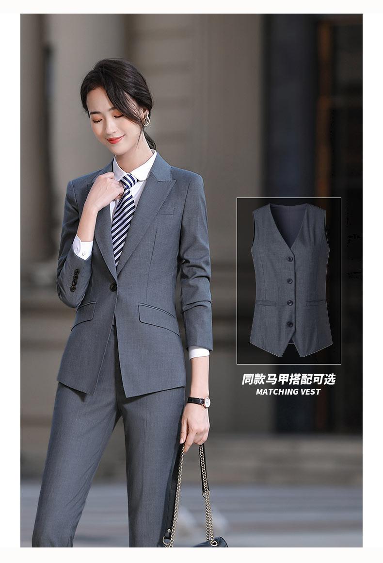 企事业单位女款定制西装款式图
