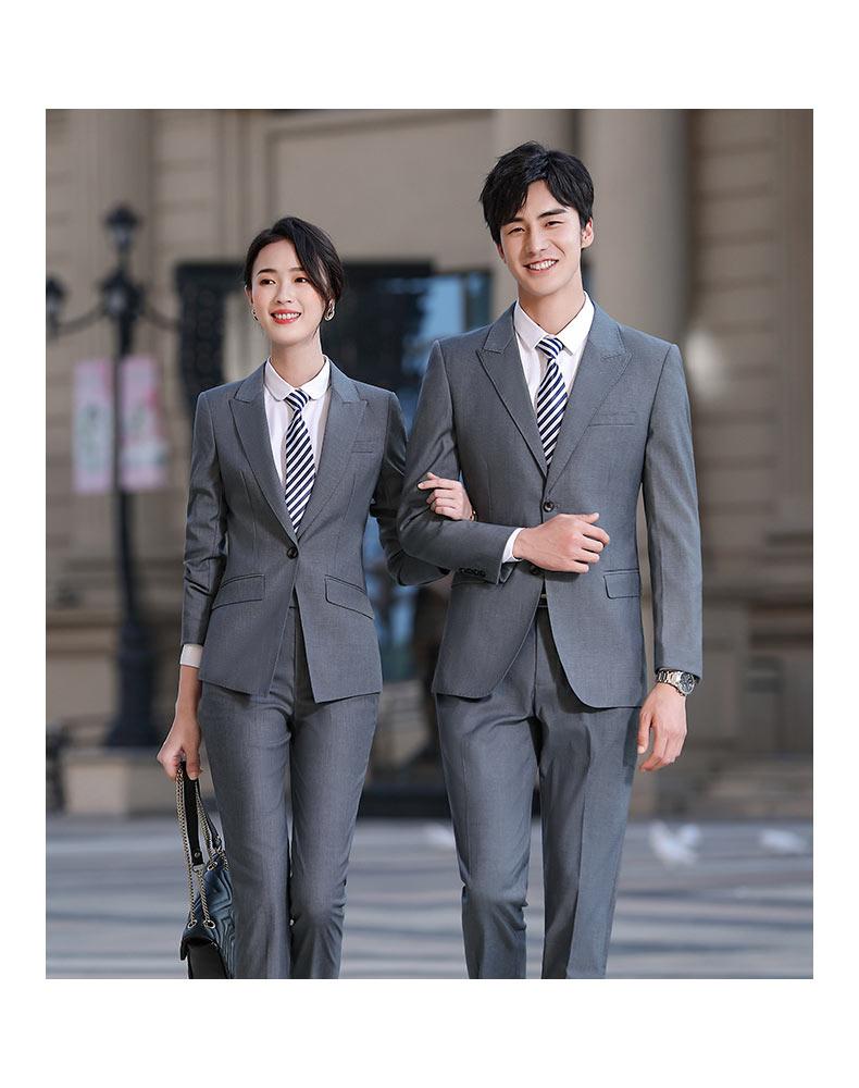 企事业单位男女款定制西装款式图片