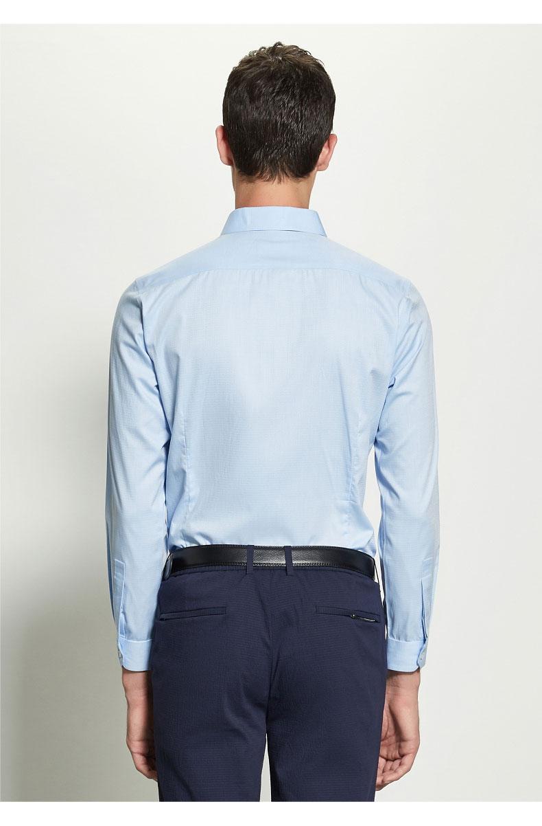 男士定制衬衫背面图片展示