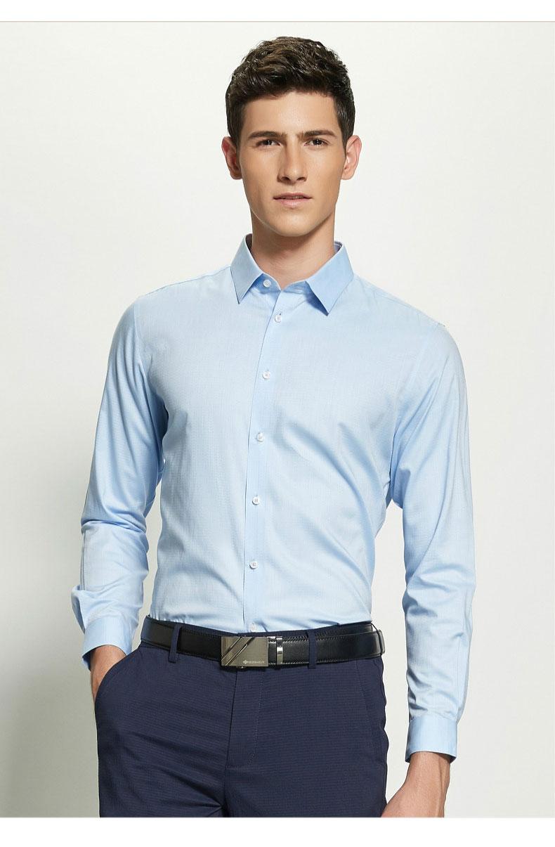 男士定制衬衫款式图片