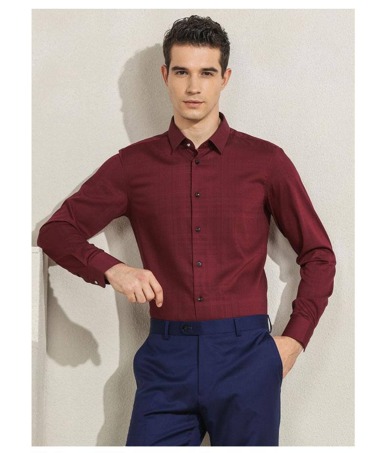 男士商务正装衬衫模特图