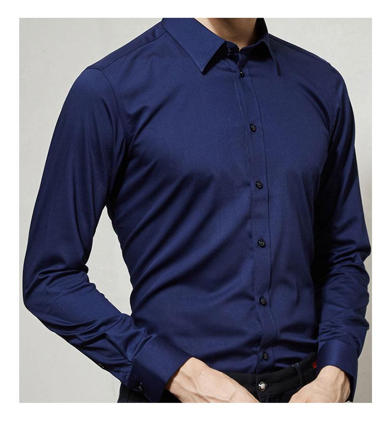 男款长袖高档衬衫细节图