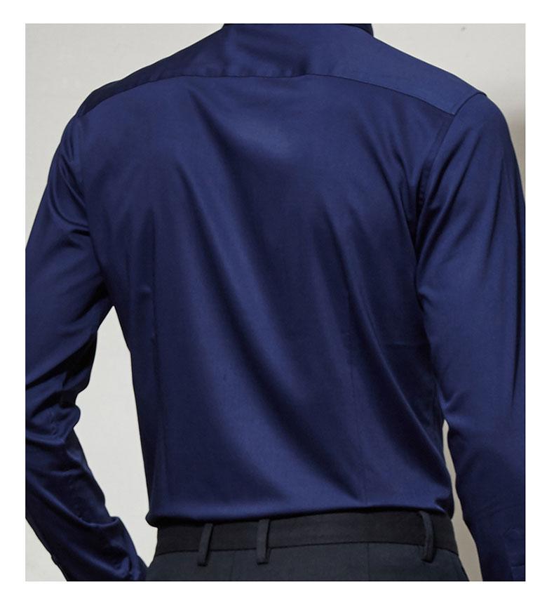 男款高档衬衫背面图