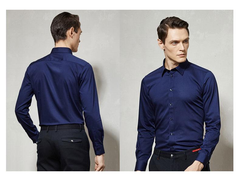 男高档衬衫长袖款正反面图片