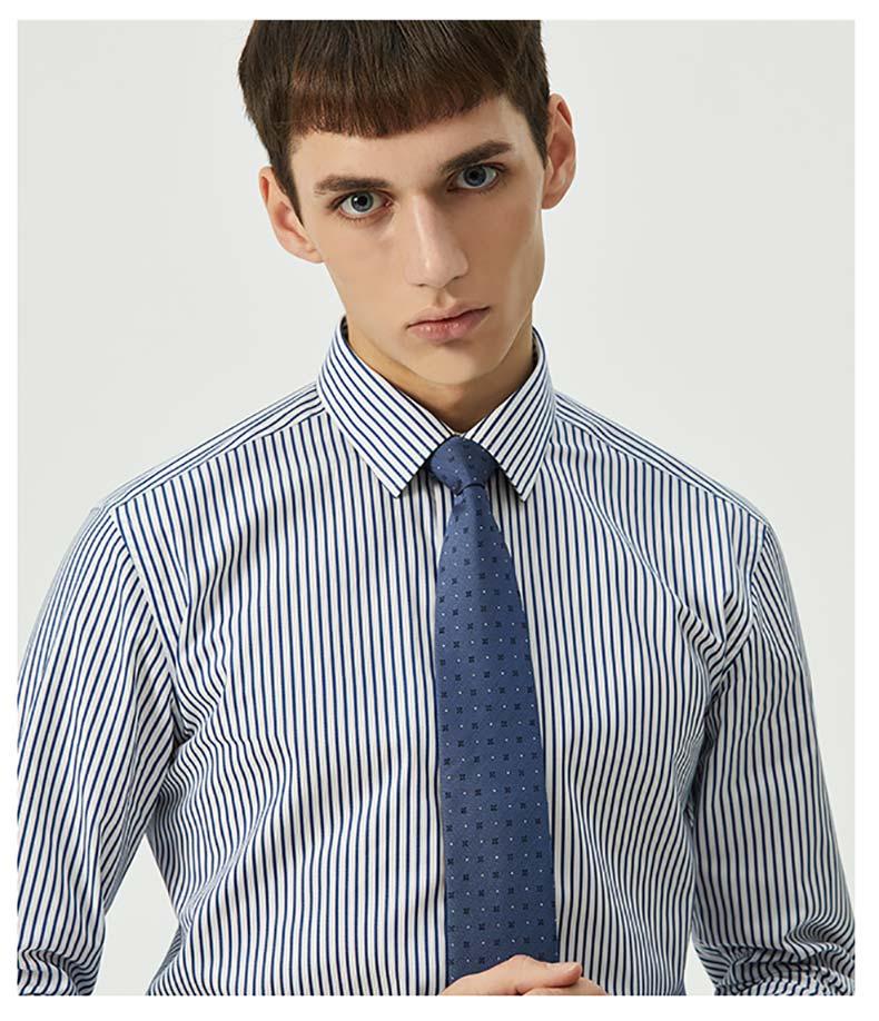 男士条纹衬衫定做款式图