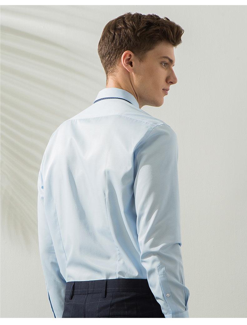 男款高档衬衫定做背面图片