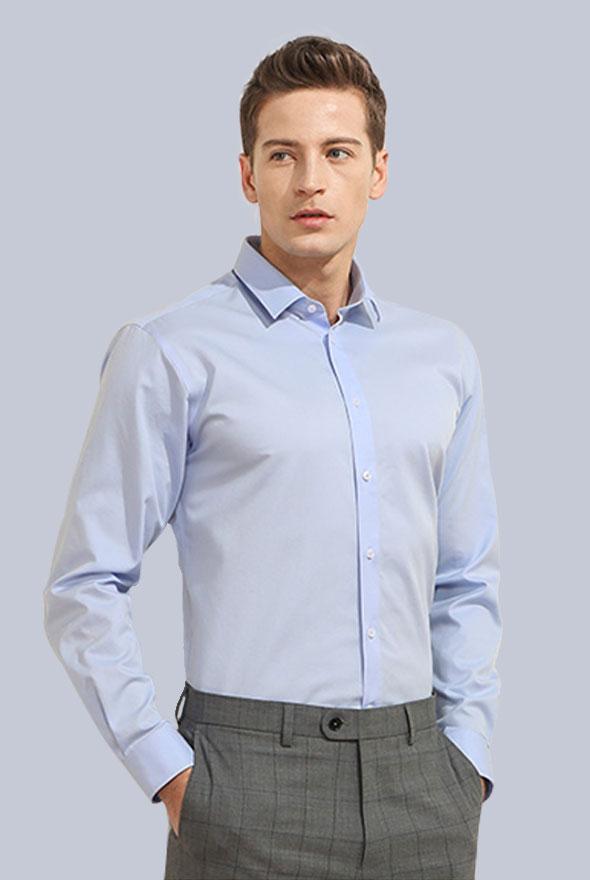 男士长袖商务衬衫
