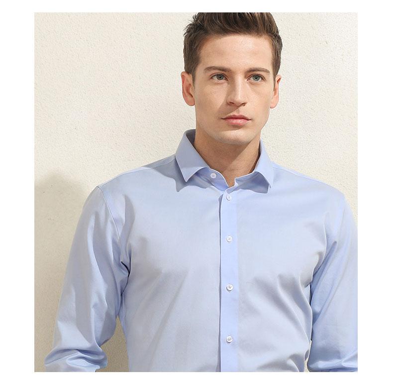 男士长袖商务衬衫定做图片