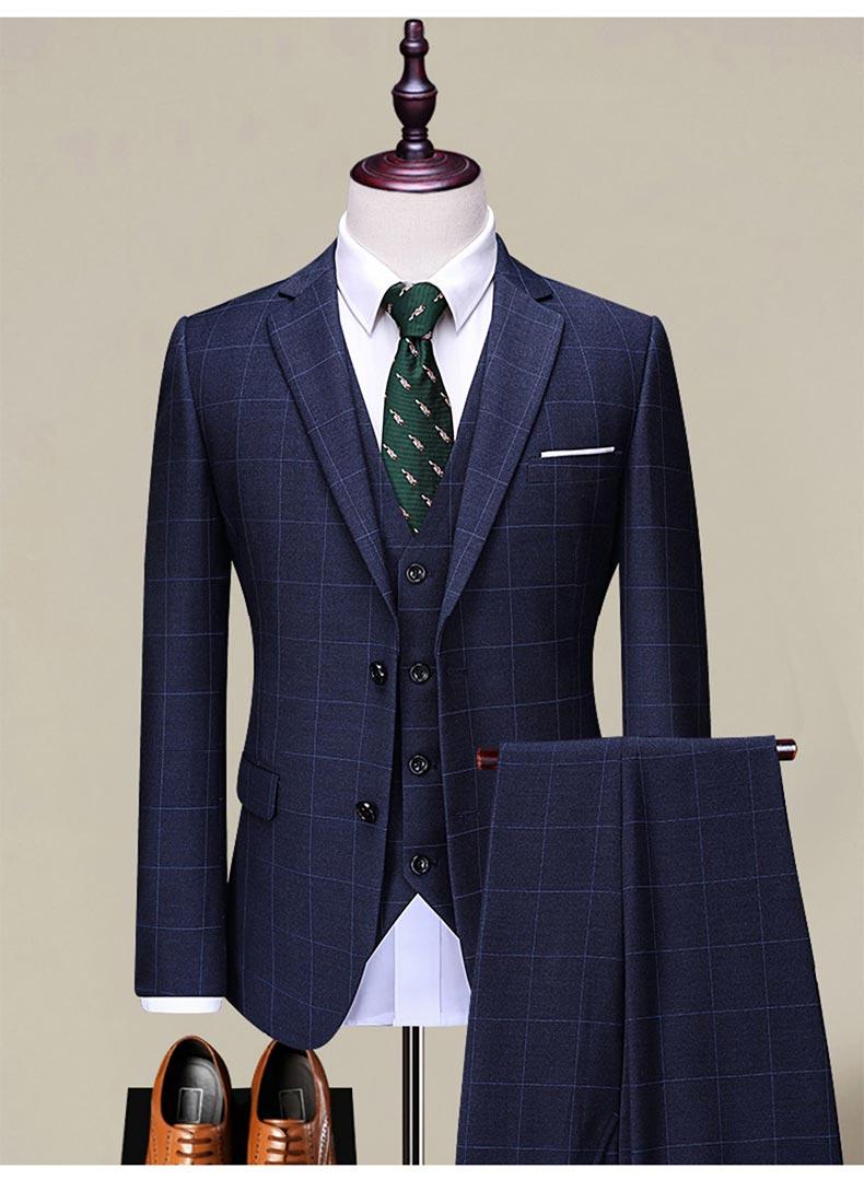 男装羊毛西服面料西装款式图