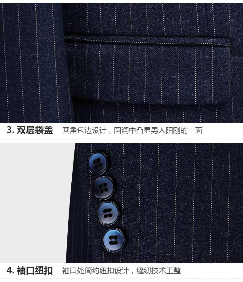 男士西服外套细节展示图