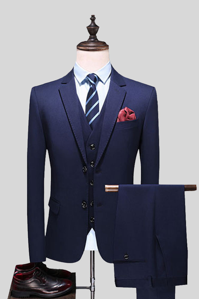 男士西装搭配款式图