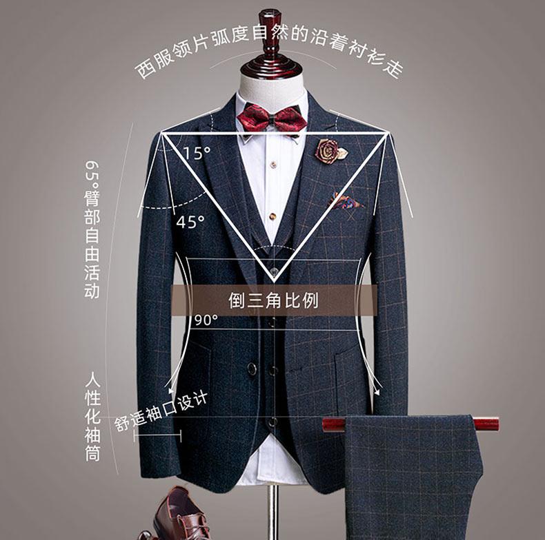 男士西装礼服套装结构解说图