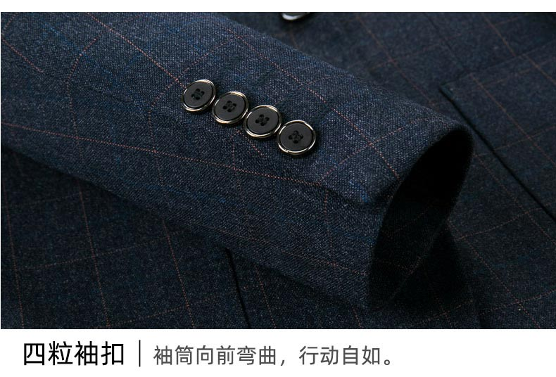 男士西装礼服套装袖扣细节展示